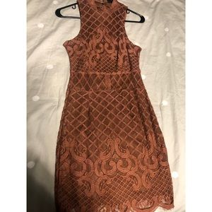 Brown Lace dress, size small